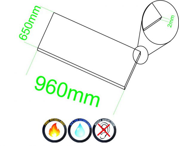 Zelfklevende kurk 2mm