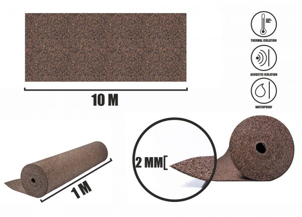 Rubberkurk grondlaag 2mm